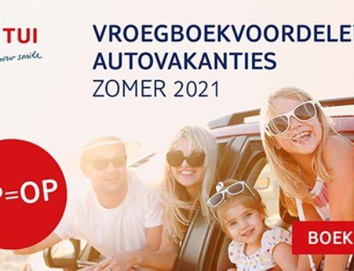 TUI lanceert Autovakantie Zomer 2021
